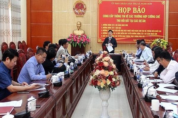 Nghi Sơn Thanh Hóa: Sẽ thực hiện cưỡng chế, thu hồi đất, giải phóng và bàn giao mặt bằng cho 5 dự án trên địa bàn thị xã
