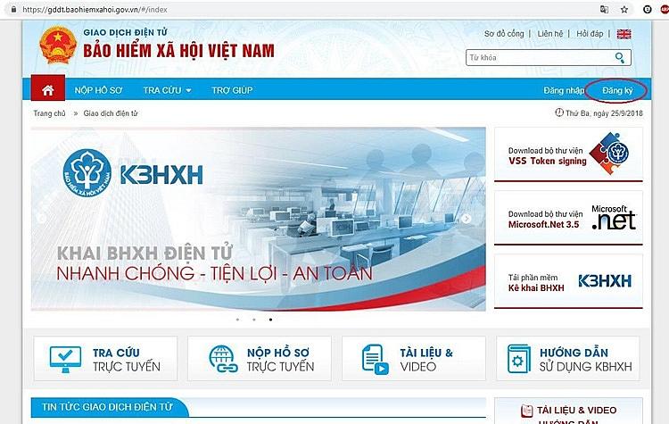 Hướng dẫn đăng ký giao dịch điện tử BHXH cho cá nhân dưới 18 tuổi
