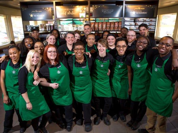 Nhân viên Starbucks tại một cửa hàng ở Ferguson, Missouri