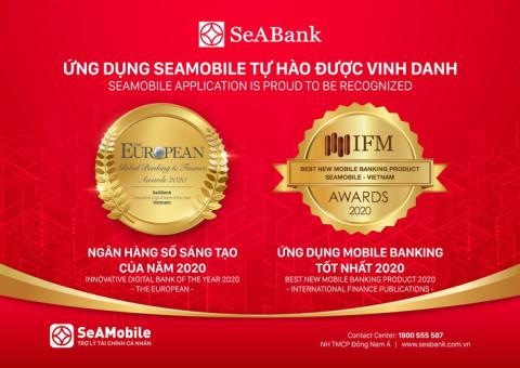 Ngân hàng số SeAMobile được ghi nhận nhiều giải thưởng uy tín