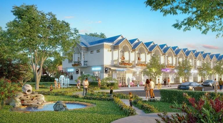 Tập đoàn Địa ốc Kim Oanh chuẩn bị ra mắt dự án mới tại trung tâm Bàu Bàng. Ảnh: phối cảnh dự án