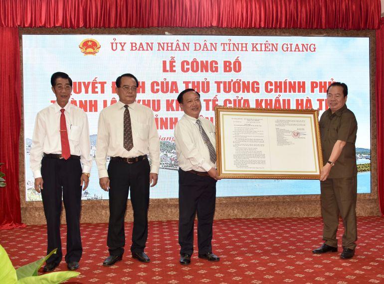 Công bố thành lập Khu kinh tế cửa khẩu duy nhất của Kiên Giang