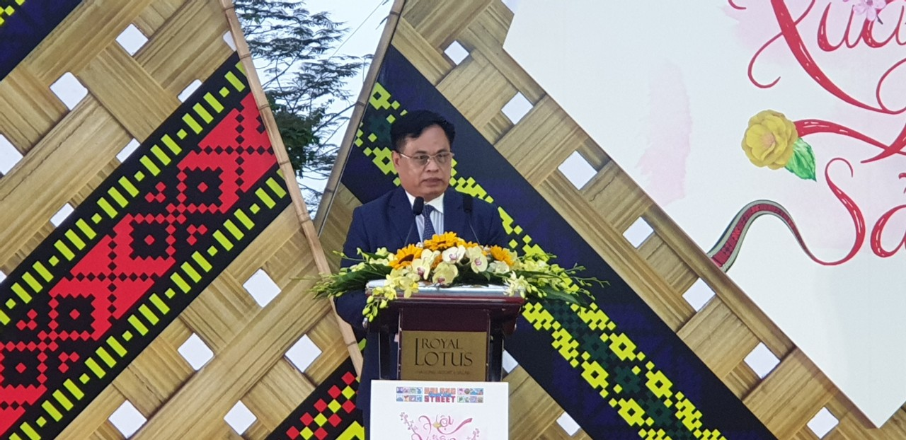 Ông Phạm Ngọc Thủy GĐ Sở du lịch phát biểu tại buổi lễ Khai mạc.