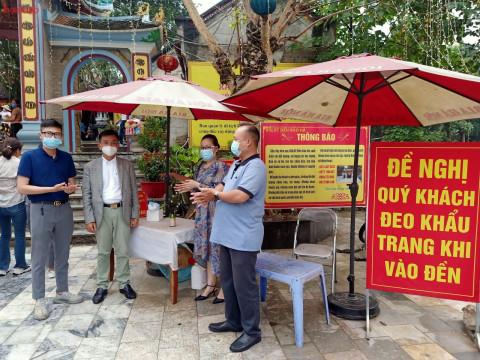 Ban quản lý khu di tích đền Bảo Hà: Đón khách không lơi lỏng chống dịch