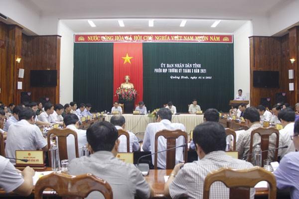 Quảng Bình: Tổ chức phiên họp thường kỳ đánh giá tình hình kinh tế - xã hội tháng 3 và quý 1/2021