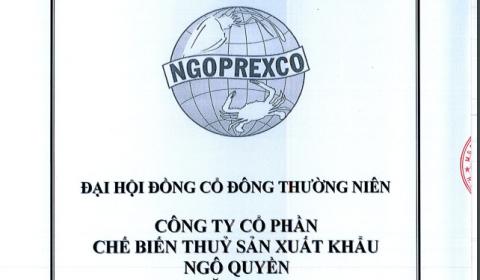 Cổ phiếu NGC của Chế biến Thuỷ sản Xuất khẩu Ngô Quyền có nguy cơ bị hủy niêm yết