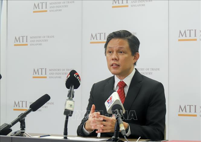 Bộ trưởng Công thương Singapore Chan Chun Sing. / Ảnh TTXVN