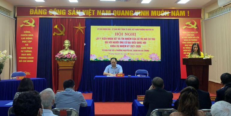 100% cử tri phường Nguyễn Du tán thành nhất trí ông Nguyễn Văn Thân tiếp tục ứng cử Đại biểu Quốc hội Khóa XV