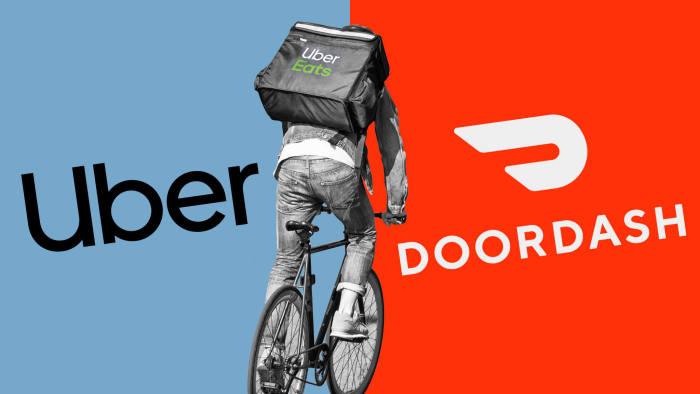"""Cuộc chiến giữa Uber và Doordash giành ngôi vị """"ông hoàng"""" ngành giao đồ ăn"""
