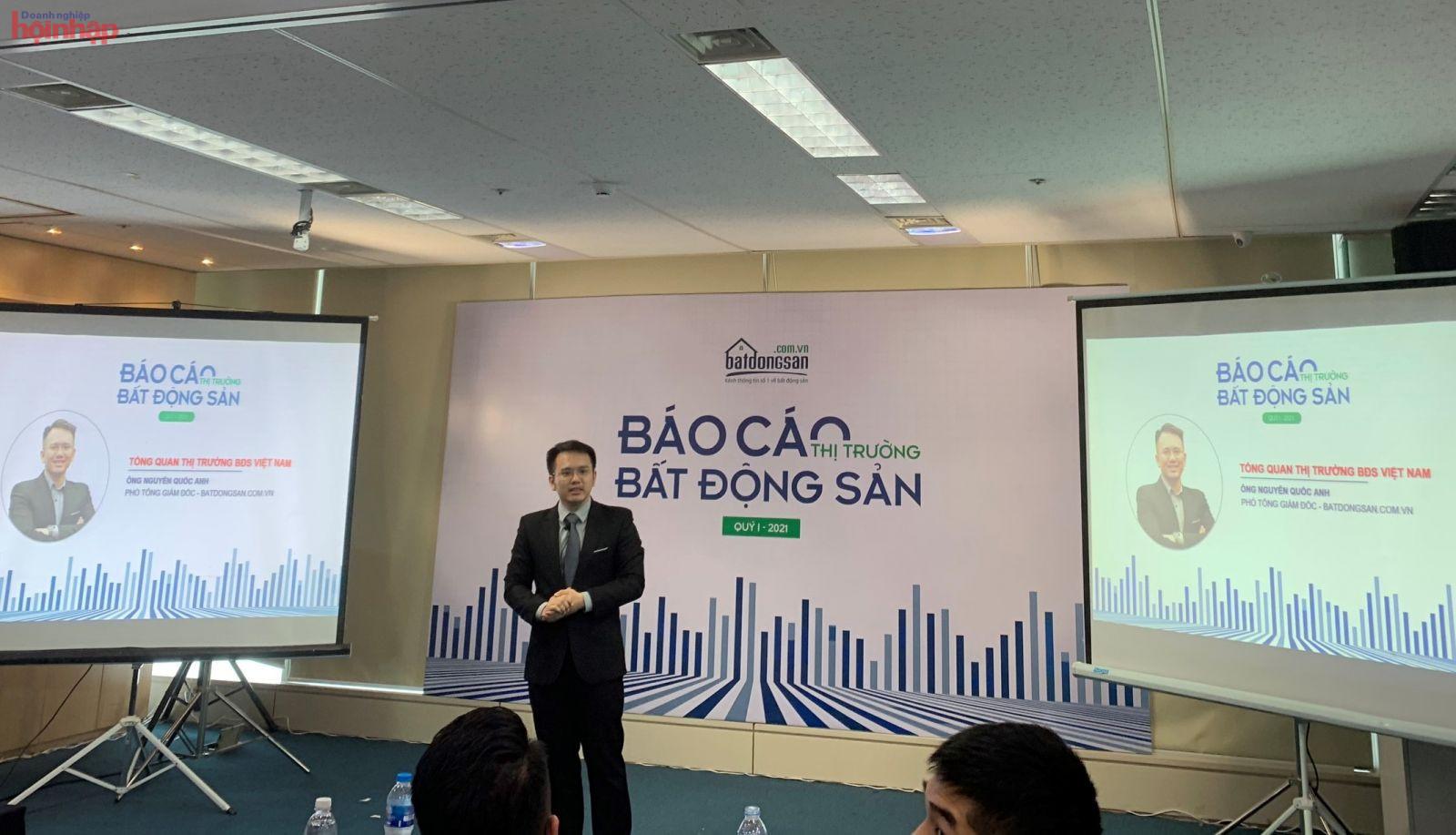 Ông Nguyễn Quốc Anh, Phó Tổng giám đốc Batdongsan.com.vn phát biểu.