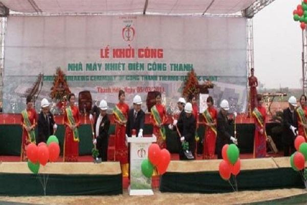 Lễ khởi công xây dựng Nhà máy nhiệt điện Công Thanh năm 2011