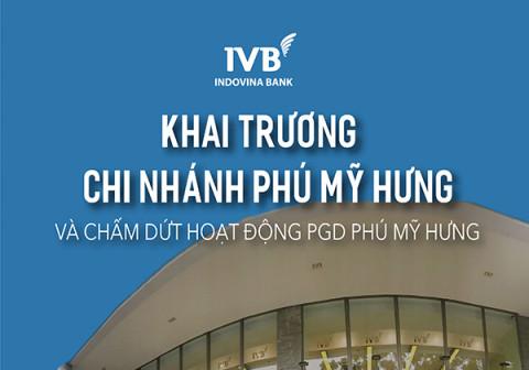 Ngân hàng TNHH Indovina khai trương hoạt động chi nhánh Phú Mỹ Hưng và chấm dứt hoạt động PGD Phú Mỹ Hưng