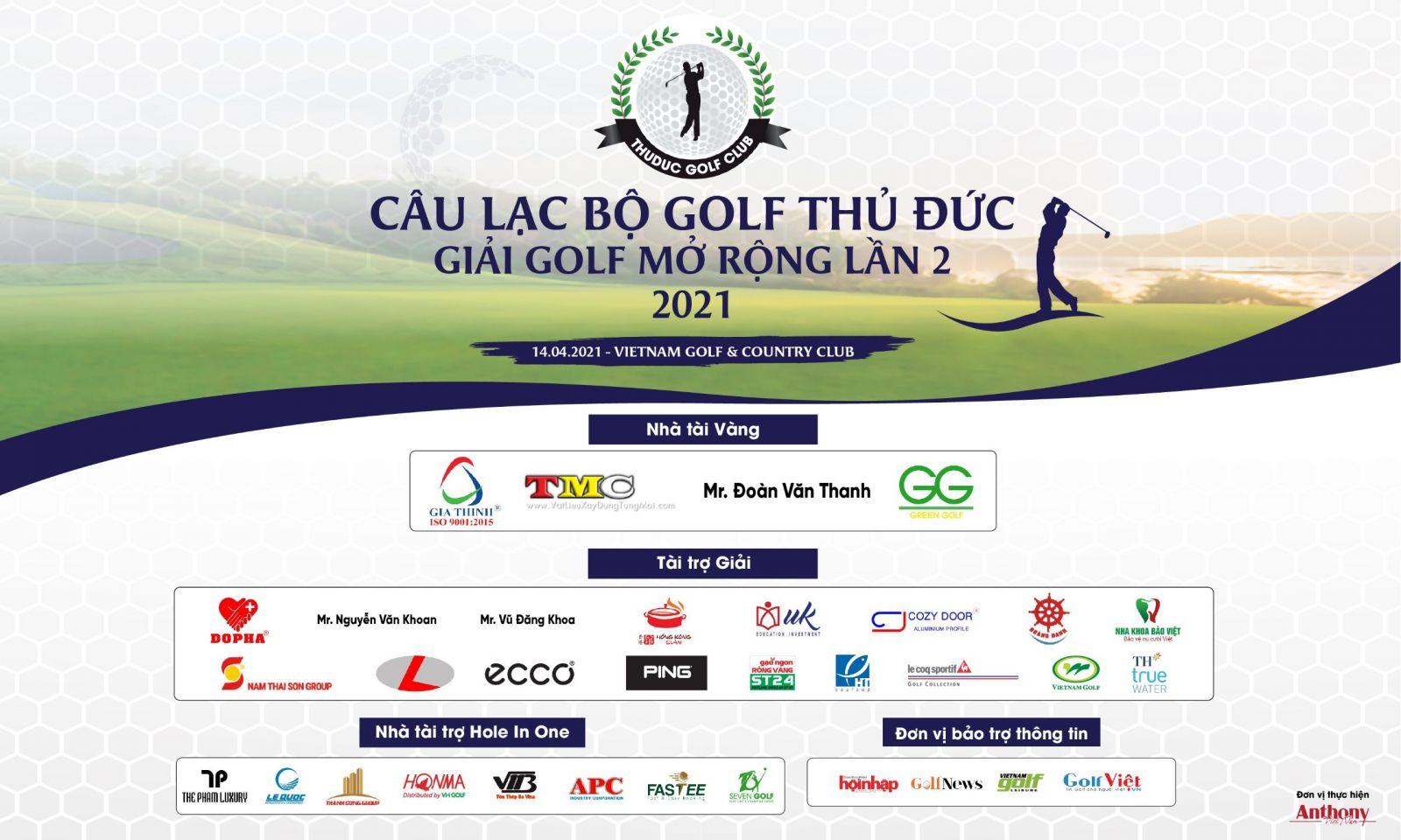 Giải Golf mở rộng lần 2 do CLB Golf Thủ Đức tổ chức nhân dịp sinh nhật lần thứ 2 CLB và đồng thời chào mừng thành lập thành phố Thủ Đức