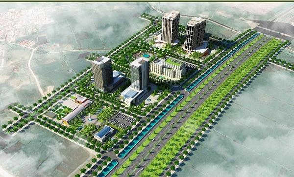 Bảng vẽ phối cảnh Dự án Khu đô thị mới phía Nam thị trấn Nếnh