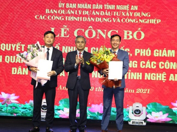 Nghệ An: Bổ nhiệm lãnh đạo Ban Quản lý dự án ĐTXD dân dụng và công nghiệp tỉnh