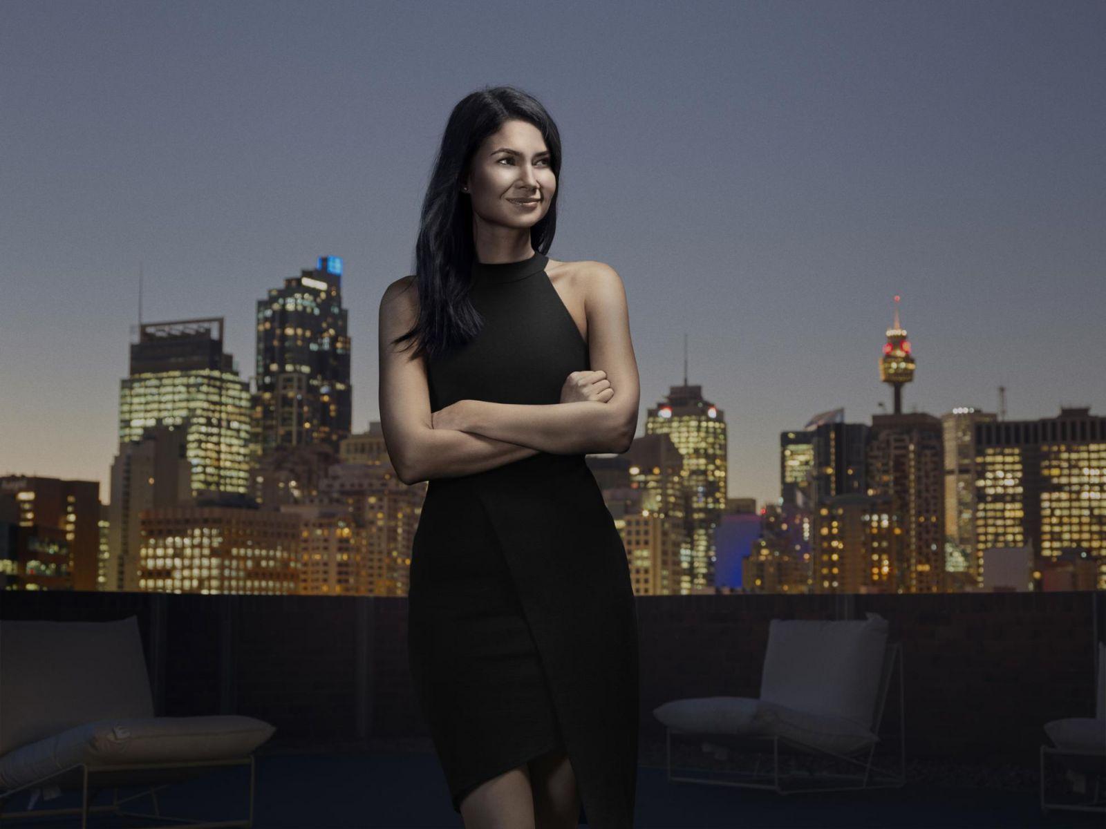 Melanie Perkins, được chụp ảnh tại đây trên đỉnh văn phòng Canva ở Sydney cho câu chuyện trang bìa của Forbes vào năm 2019, là nữ tỷ phú tự thân mới nhất. DEAN MACKENZIE