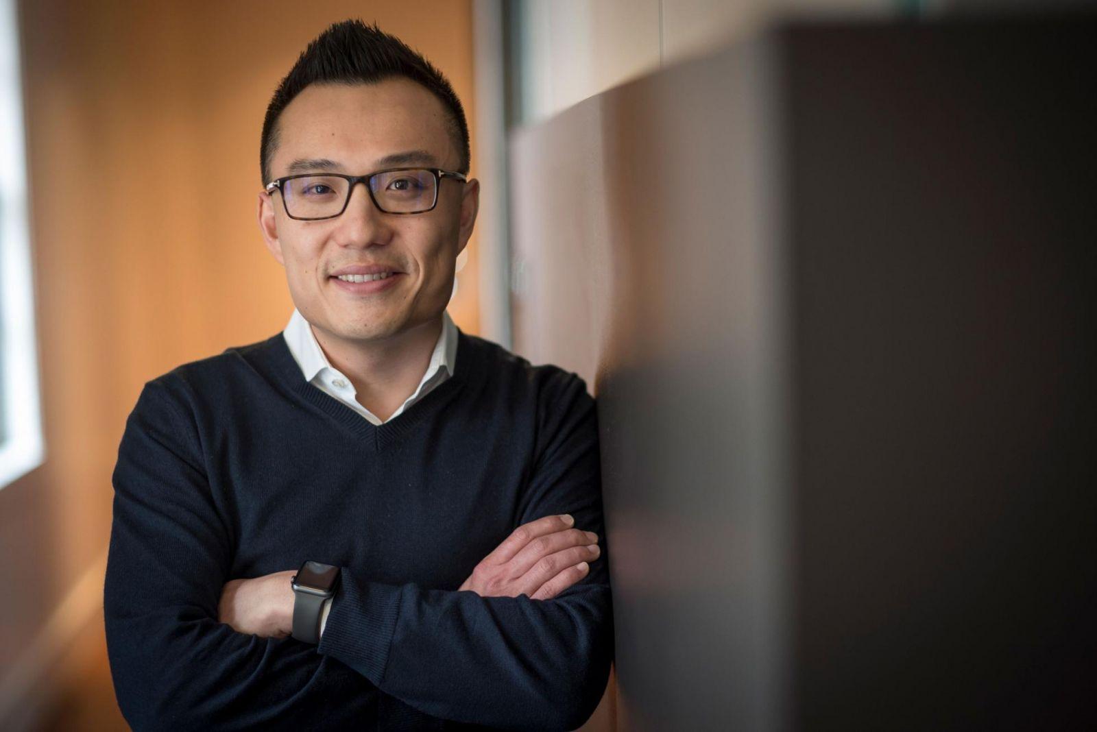 Tony Xu là đồng sáng lập và giám đốc điều hành của dịch vụ giao đồ ăn, DoorDash. (Nhiếp ảnh gia: David Paul Morris / Bloomberg