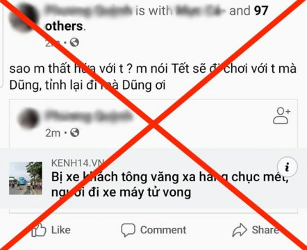 """Nạn tràn ngập """"Tai nạn giao thông"""" và """"Clip 18+"""" trên facebook, nguy cơ tin tặc chiếm đoạt tài sản người dùng"""