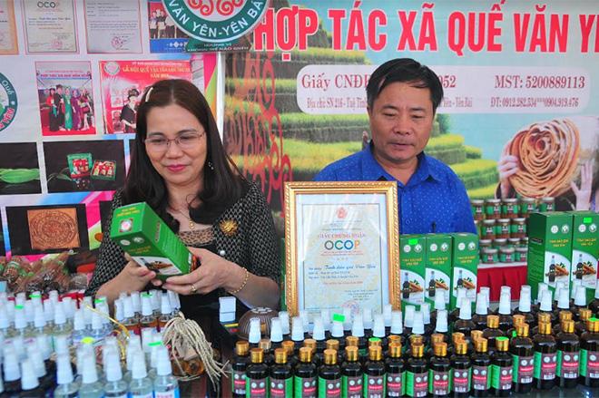 Sản phẩm OCOP của Hợp tác xã Quế Văn Yên.
