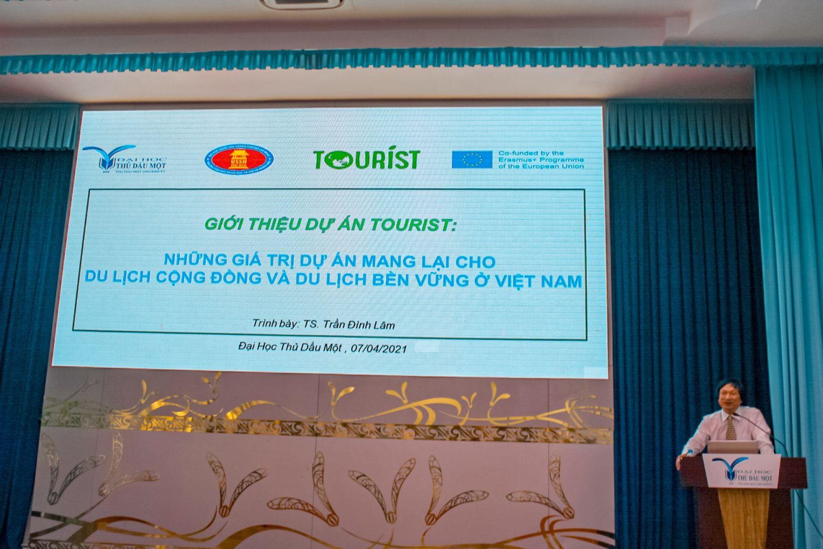 Tiến sĩ kinh tế Trần Đình Lâm - Giám đốc Trung tâm Nghiên cừu Việt Nam & Đông Nam Á, ĐH KHXHNV- Đại học Quốc gia TP.HCM, giới thiệu những giá trị mà dự án mang lại cho du lịch cộng đồng và du lịch bền vững tại Việt Nam