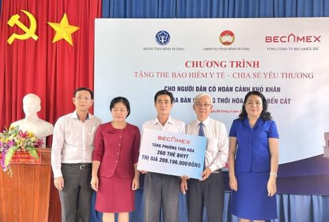 Tổng Công ty BECAMEX IDC trao tặng 1.000 thẻ BHYT cho người dân có hoàn cảnh khó khăn do dịch bệnh Covid-19