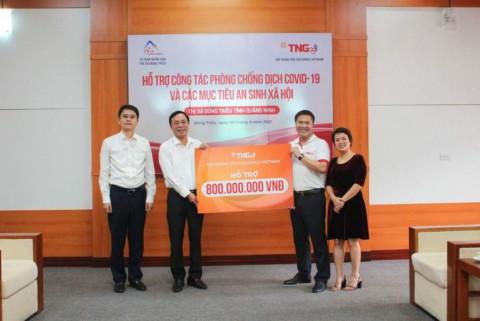 Quảng Ninh: Tập đoàn TNG Holdings Việt Nam ủng hộ 800 triệu đồng phòng chống dịch Covid-19