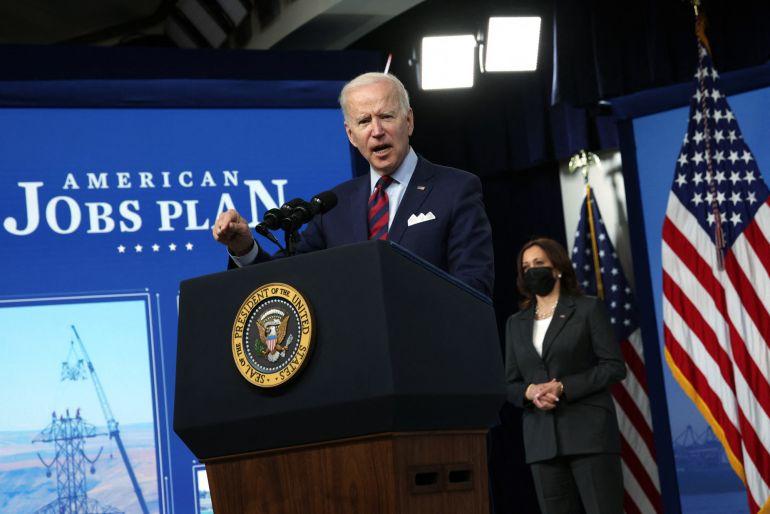 Biden thúc đẩy kế hoạch cơ sở hạ tầng để bắt kịp Trung Quốc
