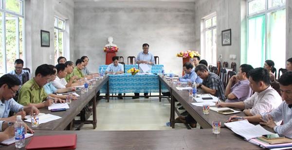 Phó chủ tịch thường trực UBND tỉnh Quảng Bình làm việc với Ban Quản lý Khu dự trữ thiên nhiên Động Châu - Khe Nước Trong