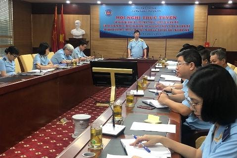 Phó Tổng cục trưởng Tổng cục Hải quan Lưu Mạnh Tưởng chủ trì phát biểu chỉ đạo hội nghị. Ảnh: Thu Bùi