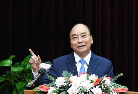 Chủ tịch nước Nguyễn Xuân Phúc làm việc với lãnh đạo thành phố Đà Nẵng và tỉnh Quảng Nam