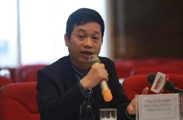 Ông Lê Văn Bình - Cục trưởng Cục Kinh tế và Phát triển quỹ đất, Tổng cục Quản lý đất đai (Bộ TN&MT)