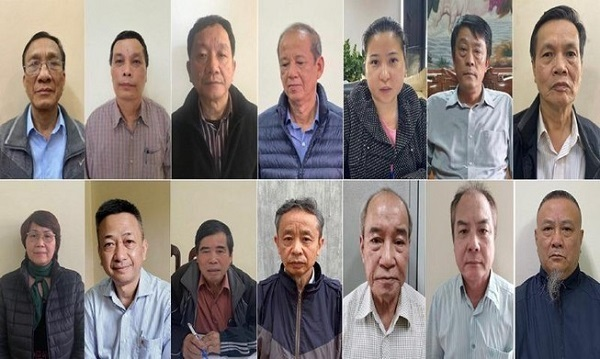 14 trong số 19 bị can tại dự án gang thép Thái Nguyên