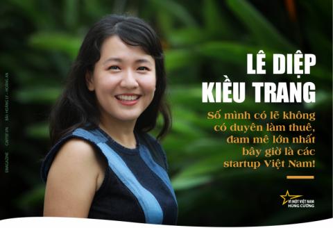 """Doanh nhân Lê Diệp Kiều Trang """"cô gái vàng"""" trong giới startup"""