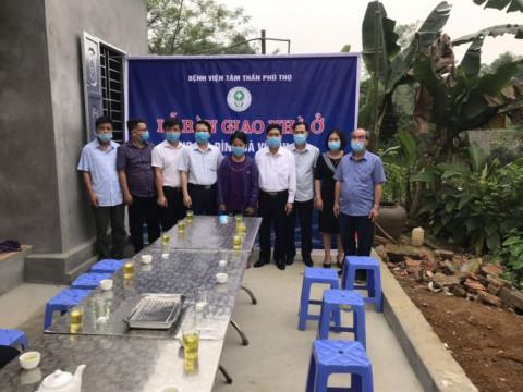Bệnh viện Tâm thần tỉnh Phú Thọ: Trao nhà nhân ái cho bệnh nhân có hoàn cảnh khó khăn tại huyện Tân Sơn