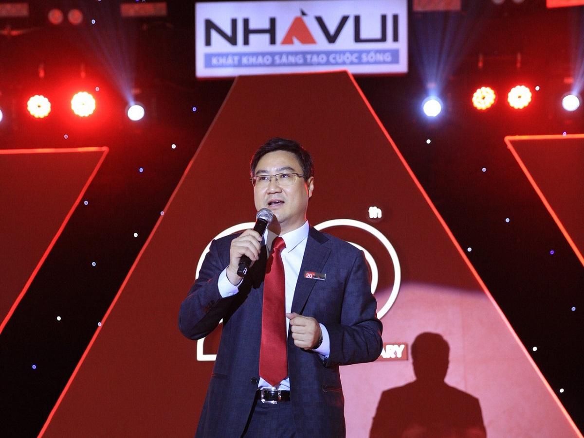 Doanh nhân Nguyễn Thu Phong – Nhà sáng lập, Chủ tịch HĐQT, Tổng giám đốc Nhà Vui. Nguồn ảnh: Internet.