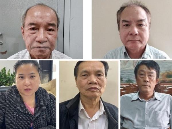 Nhóm các bị cáo bị truy tố về tội