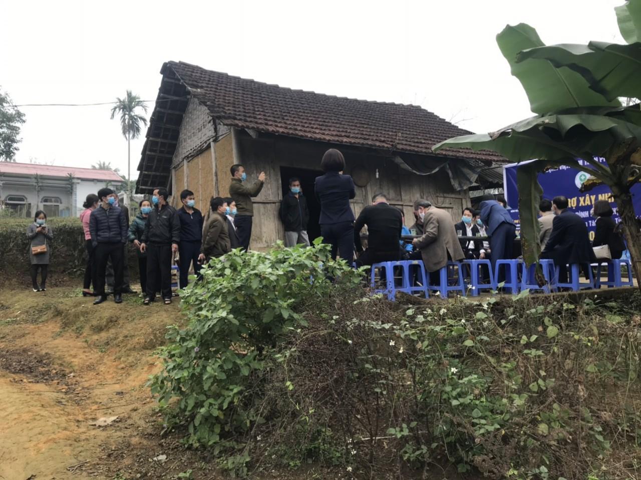 Căn nhà dột nát trước kia của bà Nguyễn Thj Sử