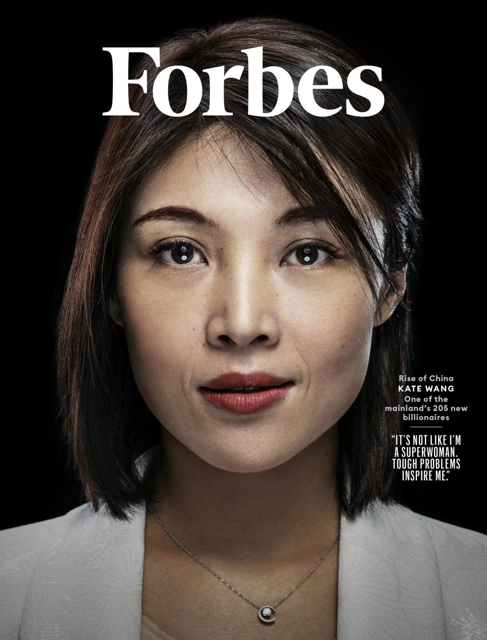 Tỷ phú Kate Wang xuất hiện trên Tạp chí Forbes của Mỹ