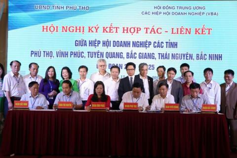 Hiệp hội Doanh nghiệp các tỉnh Trung du miền núi phía Bắc ký liên kết hợp tác giai đoạn 2021-2025