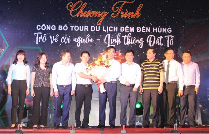 Lãnh đạo Sở VHTT&DL tỉnh Phú Thọ Công bố mở tour du lịch đêm Đền Hùng.