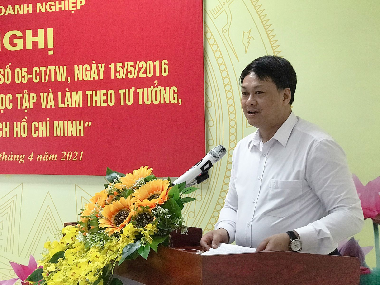 Đồng chí Nguyễn Minh Tiến – Phó Bí thư Thường trực Quận ủy