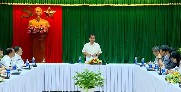 Phó chủ tịch UBND tỉnh Thái Bảo kết luận tại buổi họp
