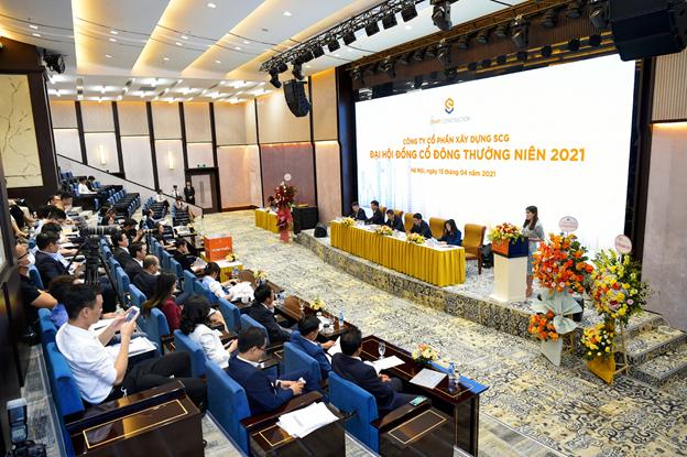 Toàn cảnh Đại hội đồng cổ đông thường niên 2021 của Công ty cổ phần Xây dựng SCG