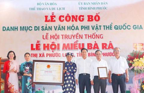 Bình Phước: Lễ hội Miếu Bà Rá di sản văn hóa phi vật thể quốc gia