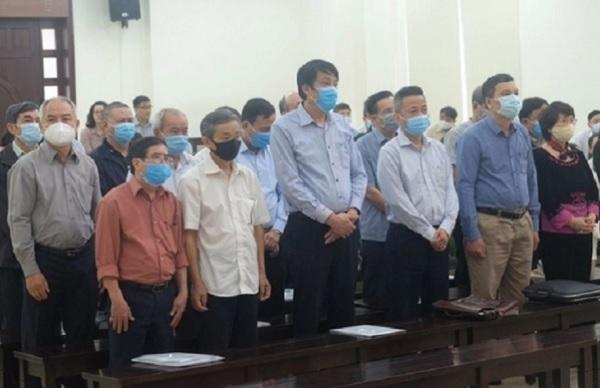 Các bị cáo trong đại án TISCO tại phiên xét xử sơ thẩm
