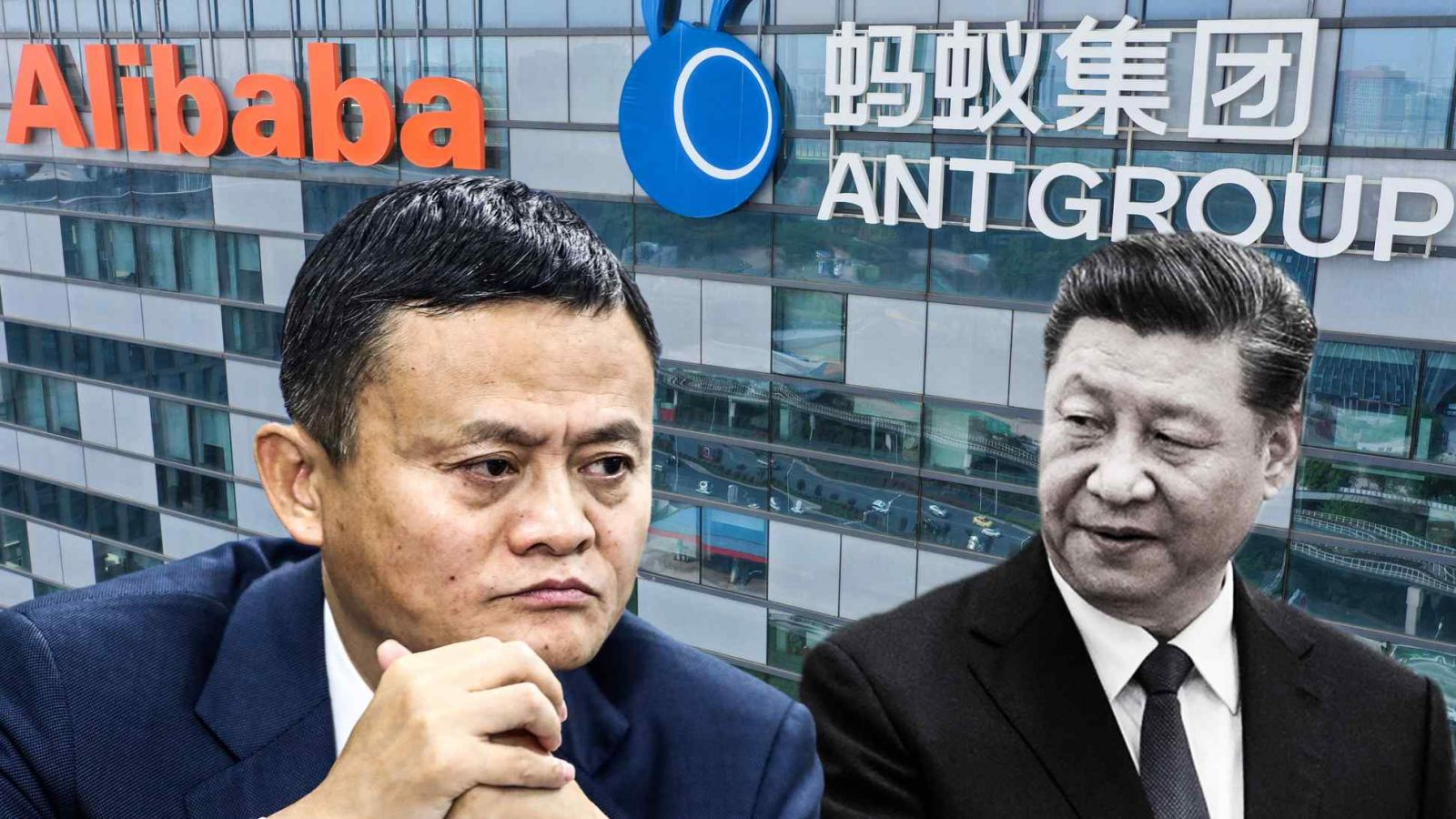 Chủ tịch Tập Cận Bình đang đưa các chiến thuật mà ông đã sử dụng trong chiến dịch chống tham nhũng đặc trưng của mình cho các công ty tư nhân như Alibaba và người sáng lập Jack Ma. (Nguồn ảnh của Reuters và Getty Images)