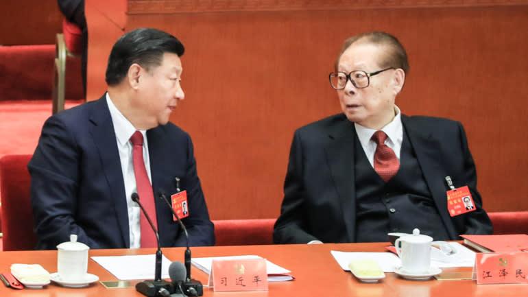 Chủ tịch Trung Quốc Tập Cận Bình và cựu Chủ tịch Giang Trạch Dân