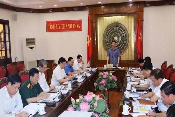 Đồng chí Đỗ Trọng Hưng - Bí thư tỉnh ủy phát biểu chỉ đạo hội nghị
