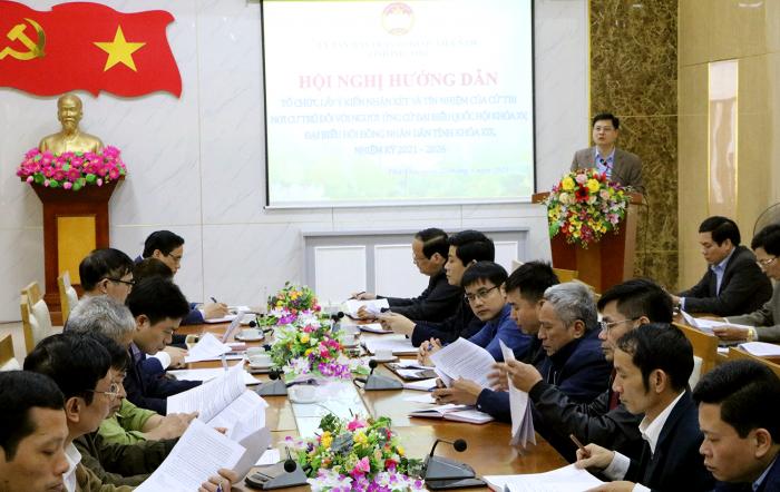 Ủy ban MTTQ tỉnh Phú Thọ tổ chức hội nghị hướng dẫn lấy ý kiến cử tri nơi cư trú