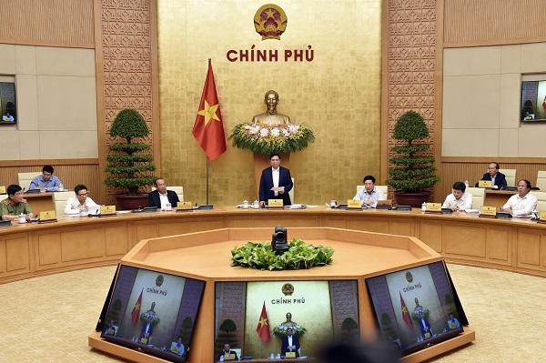 Ngày 15/4/2021, tại Trụ sở Chính phủ, Thủ tướng Chính phủ Phạm Minh Chính chủ trì phiên họp Chính phủ triển khai công việc sau khi được kiện toàn nhân sự tại kỳ họp thứ 11, Quốc hội khóa XIV